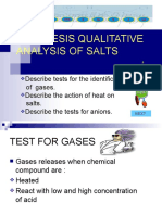 8.2(b) Identification of Gases