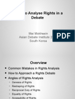 How to Analyse Rights in a Debate Lecture