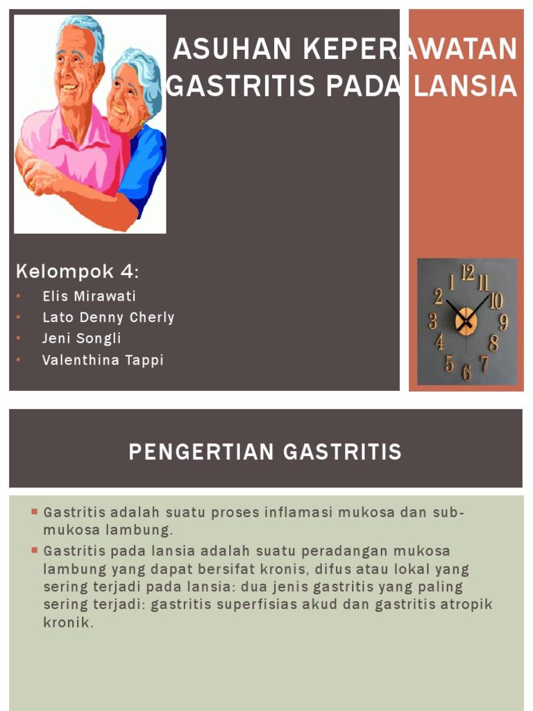 Asuhan Keperawatan Gastritis Pada Lansia