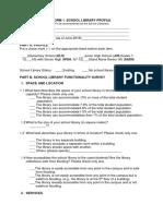 Form 1 School Library Profile