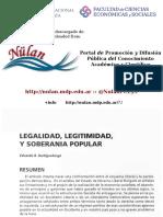 Legalidad Legitimidad y Soberanía Popular - Eduardo Dartiguelonge