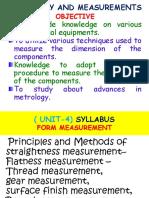 Metrology -Unit-IV (10!9!2015)
