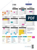 Calendario 2017-18 Asturias