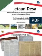 Pemetaan Desa Untuk Percepatan Pembangunan Desa Dan Kawasan Perdesaan