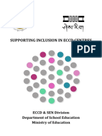 supporting inclusion in eccd centres - bhutan - eccd   sen division
