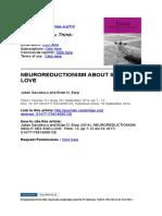 Neuroreductionism Sex&Love
