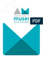 Carta Musei Piemonte Torino Libretto 2016