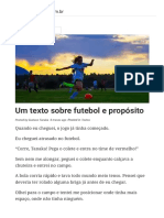 Um Texto Sobre Futebol e Propósito – Gustavo Tanaka