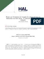« Étude sur l'évolution de l'emploi du subjonctif dans la littérature du XXe siècle » (Anna Daunes Miceli, 2010)