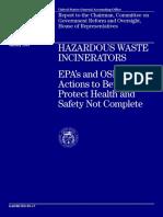 Hazardous Waste Incinerators