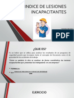 Indice de Lesiones Incapacitantes.