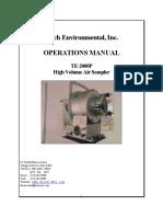 Operations Manual Te2000ps