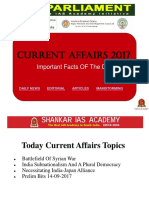 Recent & Latest  Current Affairs for IAS UPSC exams