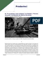 De El Socialismo Como Problema de Petkoff a Persona Non Grata de Edwards Por Alberto Hernandez