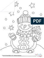 Snowman Colouring Page 3
