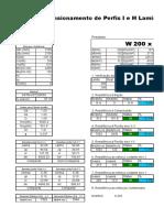 Dimensionamento de Perfis Metálicos NBR880-08