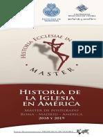 Brochure Master Historia Ecclesiae in America 2018