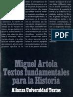 Artola Miguel - Textos Funadamentales Para La Historia