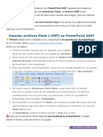Como Insertar un Archivo Flash en PowerPoint.