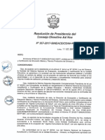 Resolución N°357-2017-SINEACE-CDAH-P