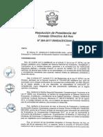 Resolución N°364-2017-SINEACE-CDAH-P