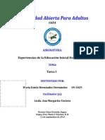 Los Antecedentes y Situación Actual de La Educación Inicial en Rep. Dom.