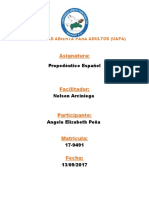 Propedéutico Español Tarea de Angela Elizabeth Peña