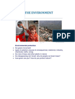 Environmental Protection Monologue