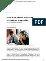 Judith Butler y Beatriz Preciado en ent...a con la revista Têtu _ Las disidentes.pdf