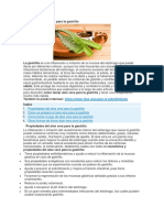 Cómo Tomar Aloe Vera Para La Gastritis