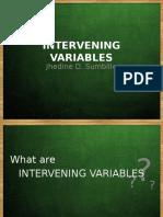 Intervening Variable