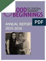 Good Beginnings Annual Report FY 15-16