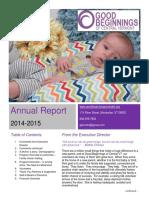 Good Beginnings Annual Report FY 14-15