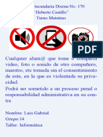Cartel No Foto No Video No Sonido