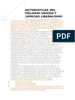 Caracteristicas Del Capitalismo Origen y Consecuencias Liberalismo