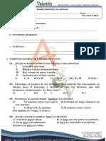 Examen Bimestral de Lenguaje