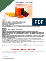 Jugo de Naranja y Zanahoria Kaffa