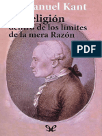 Kant, Immanuel - La Religion Dentro de Los Limites de La Mera Razon [39802] (r1.0)