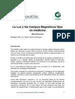 Aplicaciones en Salud de Los Campos Magnéticos Fijos y de La Luz