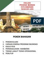 Evaluasi Prog Imuns 2015-2016 Kota Smg