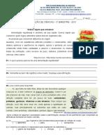 162744525 Avaliacao Ciencias 3 Bimestre 5 Ano 2013