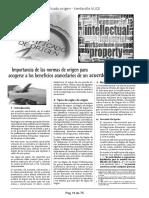 Importancia de Las Normas de Origen Acuerdo Comercial Cintya Araujo