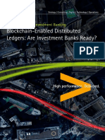 Blockchain-Enabled Distributed Ledgers Are Investment Banks Ready
