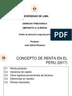 Derecho Tributario II - Concepto de Renta