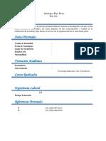Curriculum Vacio 222