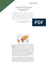 La Russie Et La Chine Contre l'Empire Du Dollar, Par Manlio Dinucci