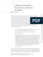 "PORTER, James (2009) ""Is Art Modern? Kristeller's 'Modern System of the Arts' Reconsidered"", British Journal of Aesthetics N° 49, Vol. 1, pp. 1-24"