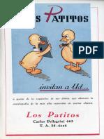 Los Patitos - Cocina Clásica Publicidad 1947