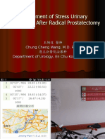 Management of Urinary Incontinence After Radical Prostatectomy 2015-11-16