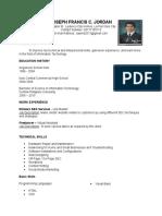 Resume - Jordan